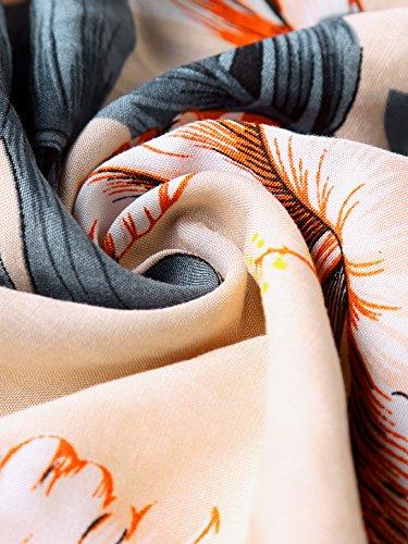 Slivexy Damen Blumen Sommer Pumphose Haremshose Lange Hose Apricot-2