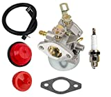 OuyFilters Carburetor Carb Kit with Fuel Filter Primer Bulb for Tecumseh 8HP-10HP HMSK80 HMSK90 Snow Blower Replace 640349 640052 640054