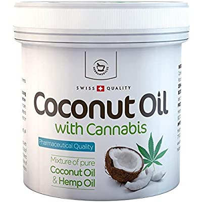 Coconut Oil with Cannabis Sativa Hemp oil - 250g from Herbamedicus