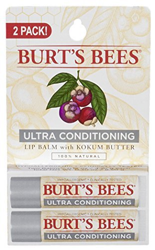 burts-bees-lip-balm-ultra-conditioning-with-kokum-butter-blister-box-03-ounce-2-count-by-burts-bees