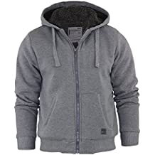 Dissident Mens Hooded Jacket Sherpa Fleece Hoodie Zip Up Sweat