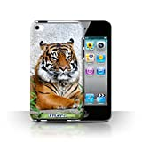 STUFF4 Phone Case / Cover for Apple iPod Touch 4 / Tiger Design / Wildlife Animals Collection