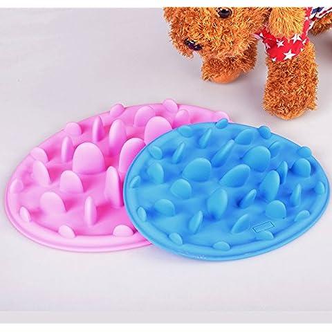 WEILI gato de antideslizante durable de mat de la silicona mate alimentos para mascotas y perros alimentos mat 3pcs , blue pink green (random delivery) , s