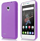 TBOC® Lila Gel TPU Hülle für Alcatel One Touch Go Play (5.0 Zoll) Ultradünn Flexibel Silikonhülle