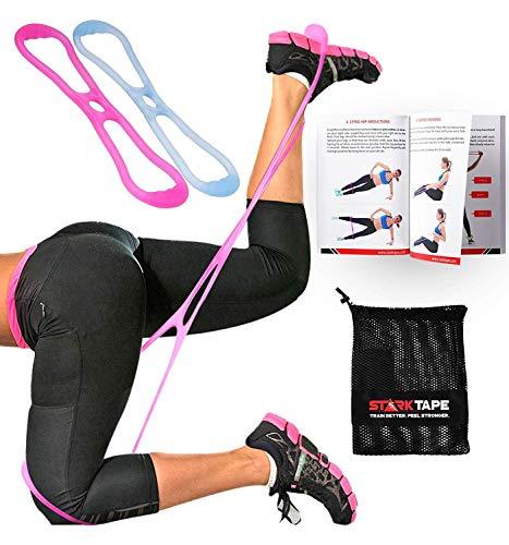 Starktape Fitnessbänder Booty Bänder resistenter Übungsgürtel| Set aus 2 dicken Hüftbändern, Tragetasche | Perfektes Brazillian Butt Lift- und Gesäßmuskulatur-Training, alle Beintrainings für Frauen -