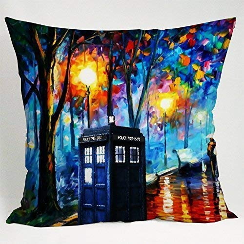 shengpeng Hot Home Dr Who Tardis Box Painting Art Pillow Case (20 * 30 inches one Side)