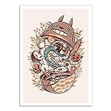WALL EDITIONS Art-Poster - Ghibli's Matryoshka - Ilustrata - Format : 50 x 70 cm
