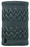Buff Knitted und Polar Savva Neckwarmer, Grey Castlerock, One Size