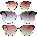 Miss Sixty Designer Sonnenbrille Clubmaster, Platin mit grauen Gläsern für Damen