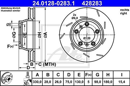 ATE 24012802831 Disque de frein