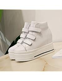 KPHY-La Nueva Temporada De Otoño E Invierno Zapatos De Mujer Y Botas Más Cálida De Terciopelo Botas De Velcro...