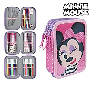 Disney-2700000241 Minnie Plumier, Multicolor, 19 cm (Artesanía Cerdá CD-27-0241)