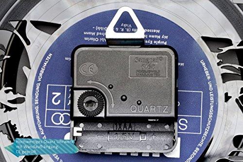 GRAVURZEILE Köln Fan-Uhr Wanduhr aus Vinyl Schallplattenuhr Upcycling Design-Uhr Vinyl-Uhr Wand-Deko Vintage-Uhr Wand-Dekoration Retro-Uhr Made in Germany