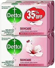 Dettol Skincare Anti-bacterial Bar Soap 165g Pack Of 4 At 35% Offer - Rose & Blo