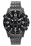 Xezo for Unite4:good Air Commando Swiss Made Divers,Pilots Gunmetal Chronograph Watch,30 ATM, Partial GMT
