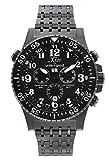 Xezo Air Commando,orologio cronografo subacqueo di lusso da uomo,prodotto in Svizzera,color canna di fucile,30 ATM,con secondo fuso orario