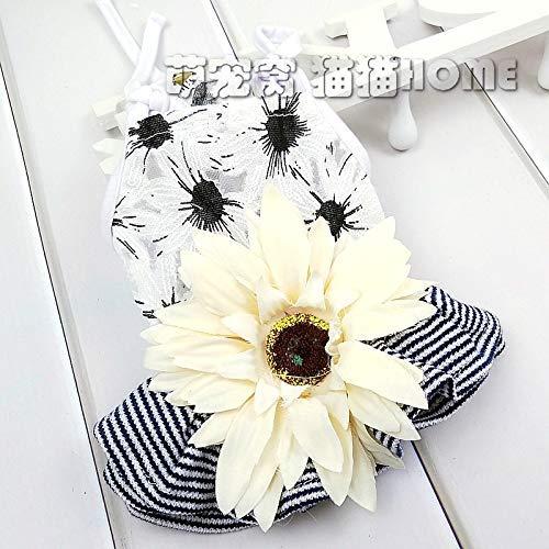 Muster Kostüm Sonnenblumen - DaQao Jumpsuit Kleidung T-Shirt Sonnenblume Hund Kleidung Sommer Haustier Kostüm Frühling Sommer Teddy Rock Prinzessin Sling Katze Kleiner Hund Weiches Muster Slimfit