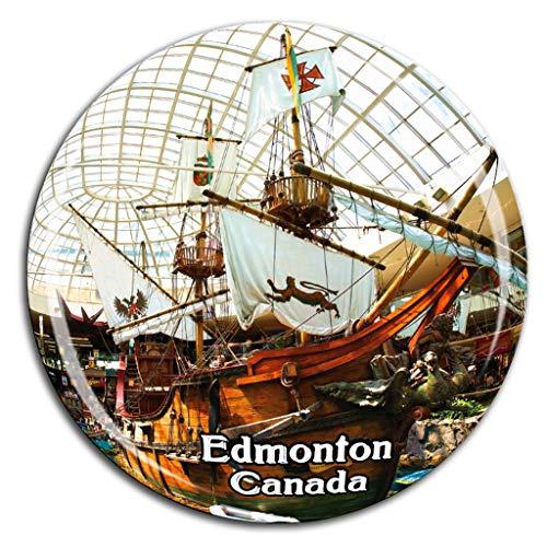 West Edmonton Mall Kanada Kühlschrankmagnet 3D Kristallglas Tourist City Travel Souvenir Collection Geschenk Stark Kühlschrank Aufkleber