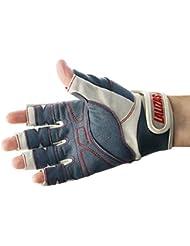 Lalizas Segelhandschuhe aus Amara Leder mit fünf freien Fingern, in den Größen S bis XXL