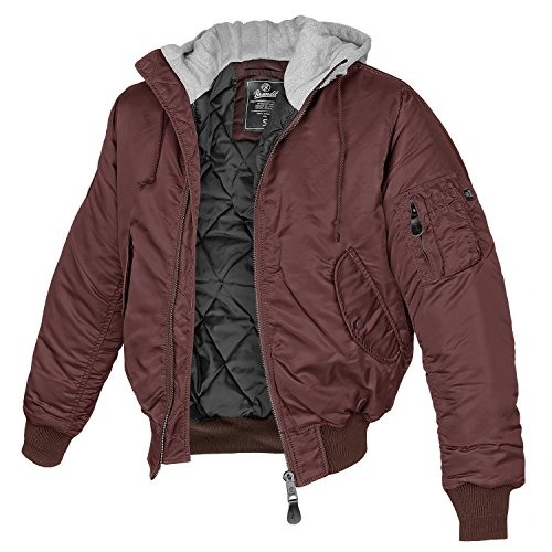MA-1 Jacke Sweat Hooded burgundy/grau - 3XL