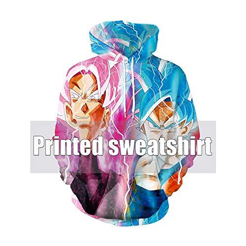 PQW Mode Männer Hoodie 3D Digitaldruck Anime Dragon Ball Hoodie Goku Lose Baseball Jersey Hoodie Sweatshirt Langarm Pullove -