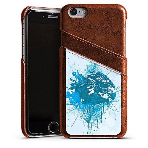 Apple iPhone 6 Housse Étui Silicone Coque Protection Aigle Aigle Griffon Étui en cuir marron