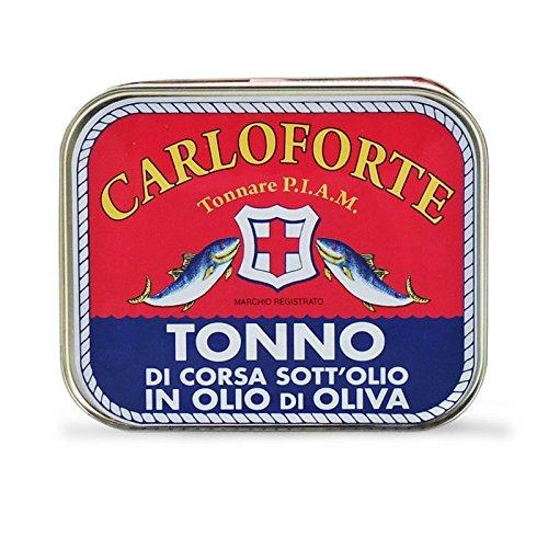 TONNO ROSSO DI CORSA IN OLIO OLIVA TONNARE PIAM CARLOFORTE 350 GR