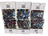 Megaset Bastelsteine 3750 Stück Glitzersteine glitzernde bunte Runde Steinchen Sterne Herzen BlumenDeko Strass Mosaik Bekleben Strass-Steine Acrylsteine transparent klar kristall basteln Gltzersteine Strass Steine zum Verzieren von CRYSTAL KING