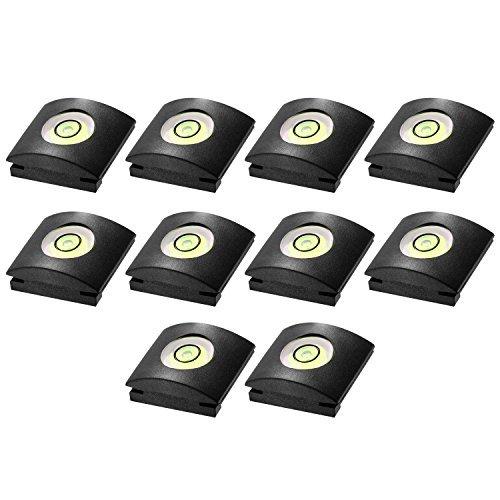 Neewer 10er Kamera Blitzlicht heiße Schuh-Abdeckung mit Wasserwaage für Canon, Nikon, Panasonic, Fujifilm , Olympus, Pentax, Sigma DSLR / SLR / EVIL-Kamera -