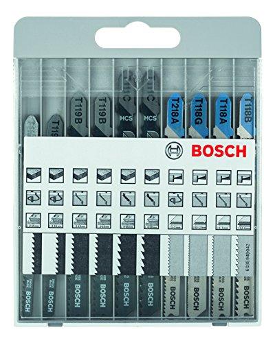 Bosch Pro Stichsägeblatt-Set Basic für Metal und Wood zum Sägen in Metall und Holz, 10tlg. -