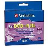 Verbatim DVD+R DL 8.5GB 8X Branded 5pk Jewel Case d'occasion  Livré partout en Belgique