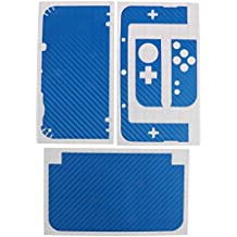 MagiDeal Carbon-Fibre Protective Vinyl Sticker For Nintendo NEW 3DS XL 3DS LL 3DSXL Blue