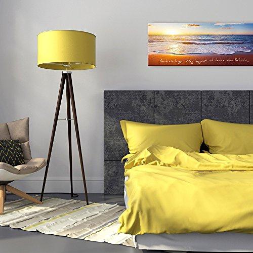 artissimo, Glasbild, 80x30cm, AG1904A, Auch EIN Langer Weg, Bild aus Glas mit Spruch, Moderne Wanddekoration aus Glas, Wandbild Wohnzimmer modern
