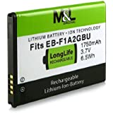 Batteria EB-F1A2GBU EBF1A2GBU per Samsung Galaxy Camera EK-GC100 - Samsung Smartphone GT-i9100 Galaxy S2 / SII | GT-i9103 Galaxy R | Galaxy GT-i9050 | GT-i9108 | GT-i9188 | GT-i9100g e più… [ Li-ion; 1750mah; 3.7V ]