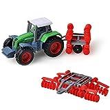 Momola Bébé Tracteur Jouet, Alliage Ingénierie Voiture Tracteur Jouet Véhicule De Ferme Ferme Ceinture Voiture Jouet Décoration (B)