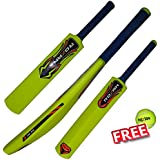 ROXAN NEW PLASTIC CRICKET BAT PARROT GREEN WITH ONE FREE TENNIS BALL