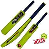#4: ROXAN NEW PLASTIC CRICKET BAT PARROT GREEN WITH ONE FREE TENNIS BALL