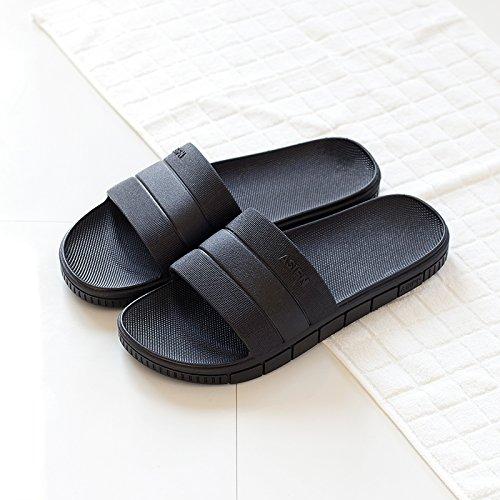 DogHaccd pantofole,Il bagno pantofole femmina estate home home interno antiscivolo in plastica spessa raffreddare le coppie ciabatte da bagno estate maschio Nero1