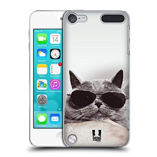 Head Case Designs Graue Britische Katze Mit Sonnenbrille Katzen Ruckseite Hülle für iPod Touch 5th Gen / 6th Gen
