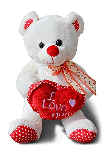 Ich liebe dich Kuscheltier 26cm groß I Love you Stofftier Kuschelbär (Große Teddybären Billig)