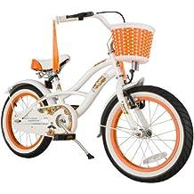 bike*star 40.6cm (16 pulgadas) Bicicleta para niños - Cruiser - Blanco
