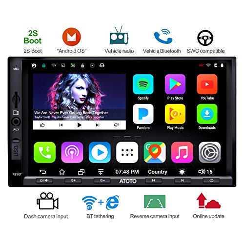 ATOTO A6 Doppel-Din Android Auto Navigation Stereo mit Dual Bluetooth - Standard A6Y2710SB 1G/16G Auto Unterhaltung Multimedia Radio, Wifi/BT Tethering Internet, Unterstützung 256G SD & Mehr