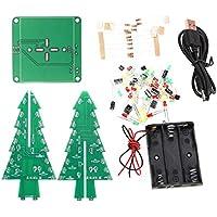 SM SunniMix Weihnachtsbaum LED-Blitz-Kit DC 4,5V-5V 3d Electronic mit Shells und Usb