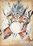 "Poster Dragon Ball ""Wanted"" Goku SSB (variant) - A3 (42x30 cm)"