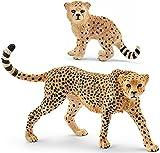 Schleich Gepardin mit Gepardenbaby 2er Set 14746 14747