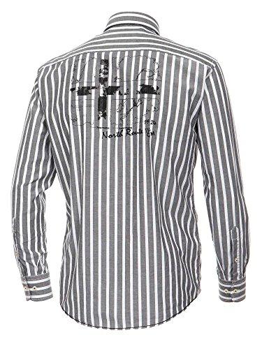 CASAMODA Herren Businesshemd 431853600 Casual Fit Grau