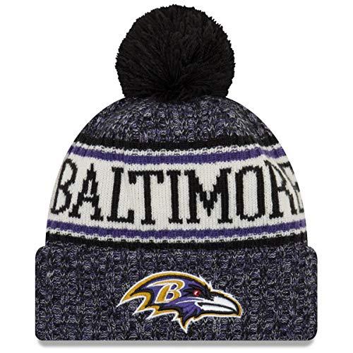A NEW ERA Era Knitted Onfield Sport Beanie ~ Baltimore Ravens