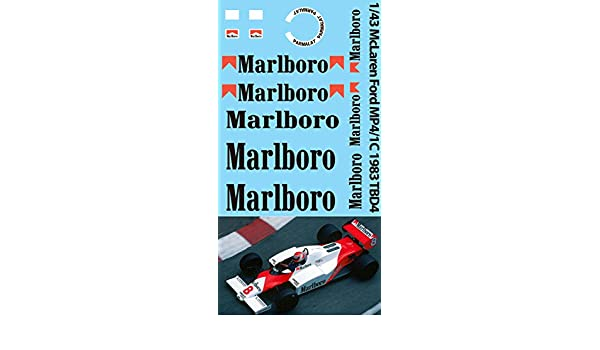 1//43 McLaren Ford MP4//1C 1983 Decals TB Decal TBD4