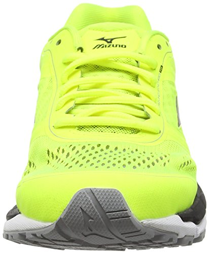 Mizuno Synchro Mx, Chaussures de Running Compétition homme Jaune - Yellow (Safety Yellow/Black/Silver)