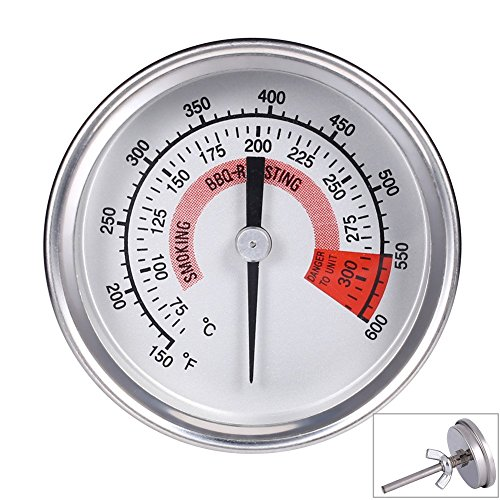 Qiorange Barbecue BBQ Pit Smoker Grill Thermometer Temp Gauge (75°C to 300°C)
